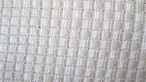 Soft & Silky 100% Organic Bamboo Cellular Blanket FABRIC - natural white