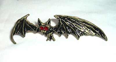 "Beautifully detailed Bat, Pin/Button, 2 3/4"" x 3/4"""