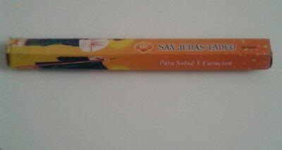 1por 20 stick san judas tadeo sac/ salud curacion sac varillas, hexagonal