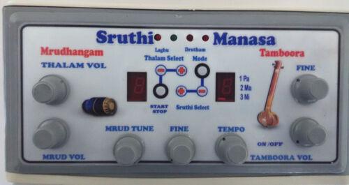 CARNATIC MUSIC REFERENCE INSTRUMENT THAMBURA MRIDANGAM COMBINATION DRONE ELECTRO