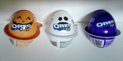 Halloween Ghost Eggs (Halloween Oreo Eggs Ghost Pumpkin Vampire Empty Plastic Shells Containers)