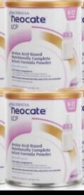2 x tins of neocate baby formula