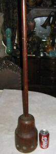 ANTIQUE-COUNTRY-PRIMITIVE-WOOD-BUTTER-CHURN-PADDLE-STICK-SPOON-PLUNGER-ART-TOOL