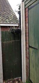 Concrete end fence post