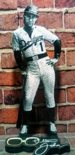 "ELTON JOHN DISPLAY 8"" STANDEE Figure Statue Dodgers Baseball 1975 Cutout Standup"