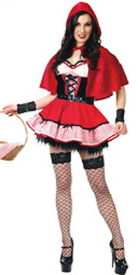 Granny's Girl Little Red Riding Hood Fancy Dress Up Halloween Sexy Adult Costume