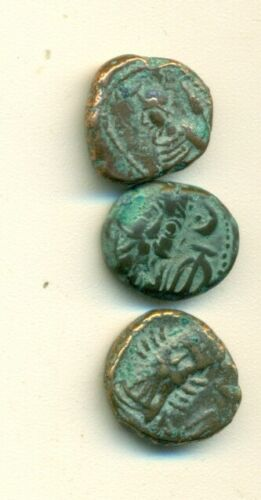3 ANCIENT ELYMAIS BRONZE DRACHMA - CIRCA 2nd CENTURY/1900+ YEARS OLD..Lot #3