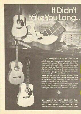 1974 Alvarez Yairi Guitars - It didn't take you long - Vintage Ad for sale  Shipping to Ireland