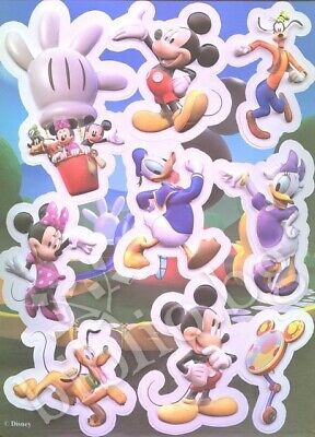 Children`s Boy Girls Mickey Mouse Party 3D Stickers Assorted 2PK (18X) Idea Gift - Mickey Party Ideas