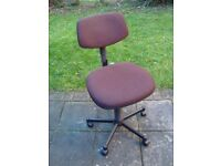 Brown office swivel chair