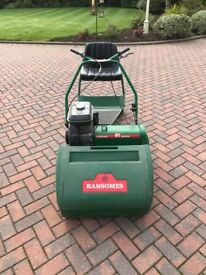Ransomes Marquis 61 Lawnmower with roller seat attachment