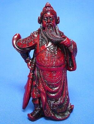 """4.25"""" Guan Gong, Guan Yu, Kwan Kong, Kuan Kong or Kong Chang w/ Guan Dao Sword"""