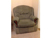 Single arm chair, old fashioned design, good condition