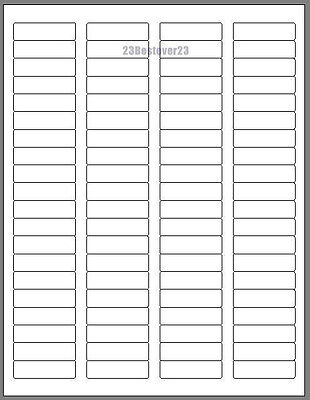4000 Blank 1 34 X 12 White Address Laser Labels