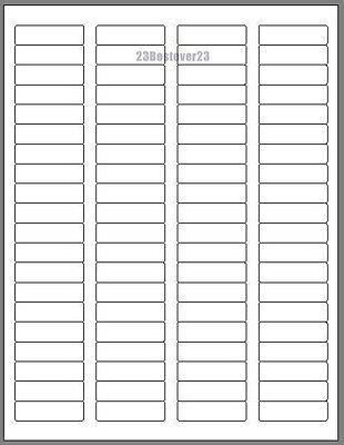 1600 Blank 1 34 X 12 White Address Mail Laser Shipping Labels Free Shipping