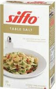 Sifto Table Salt by the case or box