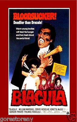 BLACULA Movie Poster Horror Blaxploitation Rare Vampire