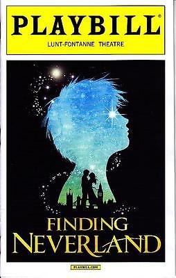 FINDING NEVERLAND PLAYBILL BROADWAY NYC NEW YORK MARCH 2015 MATTHEW MORRISON
