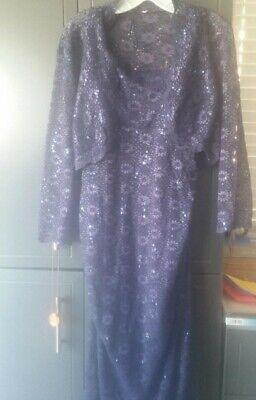 Jeanne Alexander Long Cocktail Dress 2-Piece size 16, w/ matching shoes size (2 Piece Cocktail Dress)