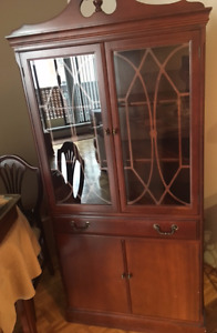 $25.00 Cherry Wood Condo/Apartment size China Cabinet