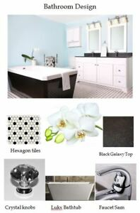 VANITY,CABINET,MIRROR,BATHTUB,TILE,FAUCET,SINK,SHOWER KITCHEN...