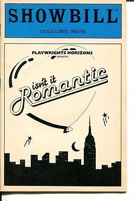 Robin Bartlett James Rebhorn Wendy Wasserstein Isn't It Romantic Playbill