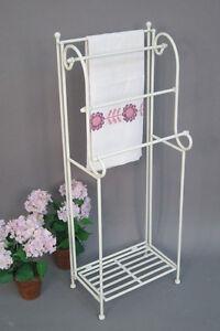 Mobile bagno mensola portasciugamani libreria scaffale in ferro battuto ebay - Mobile bagno ferro battuto ...