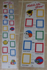 Watch Me Grow! Wooden Growth Chart With Picture Frames