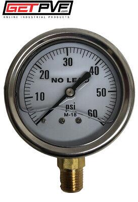 0-60psi Liquid Filled Gauge Ss Case 14 Lm Npt