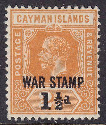CAYMAN ISLANDS 1919 SG59 1½d on 2½d ORANGE WAR STAMP MM