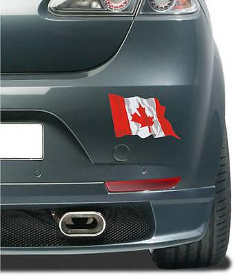 Aufkleber / Autoaufkleber Fahne Flagge Canada - Kanada 10 cm fürs Auto wehend (Autofahne Kanada)