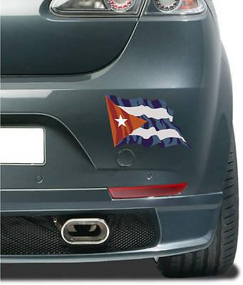 Aufkleber / Autoaufkleber Fahne Flagge Cuba - Kuba 10 cm wehend Auto LKW Laptop ()