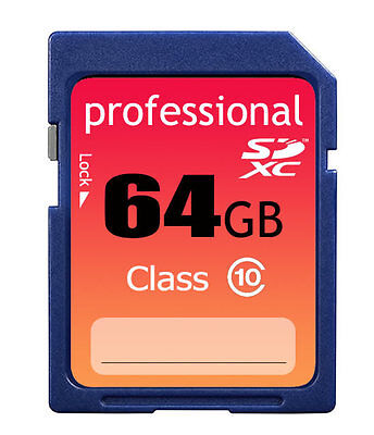 New 64GB Class 10 SDXC/SDHC(HC SD) Professional Flash Memory Card 64 GB G 64G