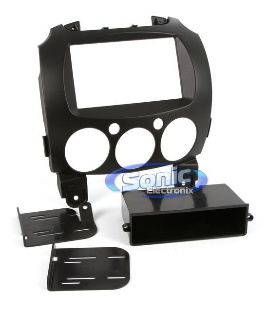 Scosche MA1547B Single/Double DIN Dash Installation Kit for 2011-Up Mazda 2