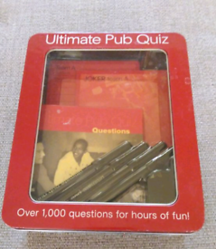 Brand new pub and sports quiz games and a cat jigsaw puzzle