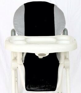 BABY-HIGH-CHAIR-COVER-FITS-MOST-HIGH-CHAIRS-Gray-black-NEW-SOFT-PADDED