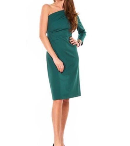 Rinascimento Abito Vestito Donna Monospalla Verde Tg.M