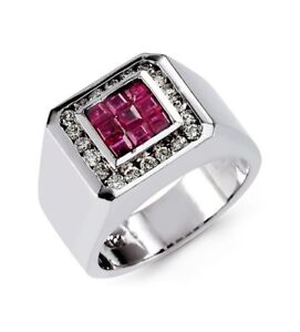 Diamond Ruby 14K Men