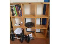 Wooden cube storage unit