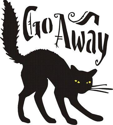 Grumpy Cat Halloween Stencil (Grumpy Cat Go Away Halloween)