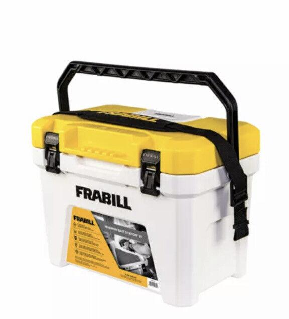 New Frabill Magnum Fishing Bait Station Cooler 13 Qt Pump & Plug Included