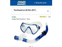 2 Snorkel and mask sets (never been used)
