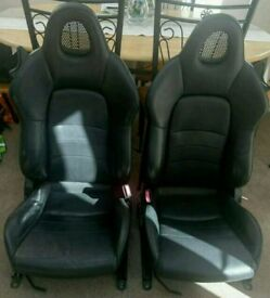 ***RARE FIND FOR MG F / TF*** HONDA S2000 AP1 LEATHER SEATS FOR MG F / TF
