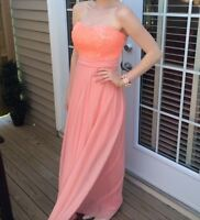 Beautiful Coral with neon coral sequins Small Dress Nordstroms