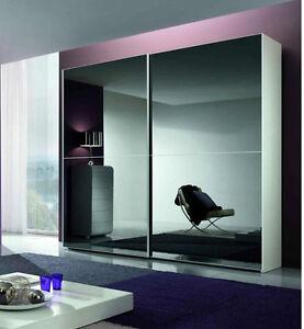 Armadio 2 ante maxi scorrevoli con vetro fume 39 bronzo vari - Specchio mondo convenienza ...