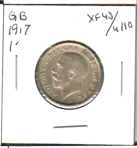 Great Britain Shilling 1917 XF