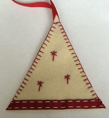 2 X Handmade Felt Christmas Tree Hanging Decoration Santa Father Christmas