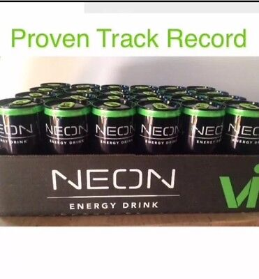 NEON Visalus Body By Vi Best Tasting Energy Drink 24 Cans, Cool Glow, Exp