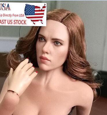 Zctoys 1 6 Scarlett Johansson Woman Head Sculpt Model Fit 12  Female Body U S A
