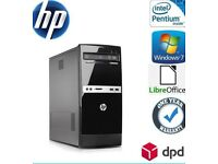 HP 500B MT PC Desktop 250 GB, Dual Core 3.2 GHz 4 GB Win 7 Pro WiFi DVDRW-3